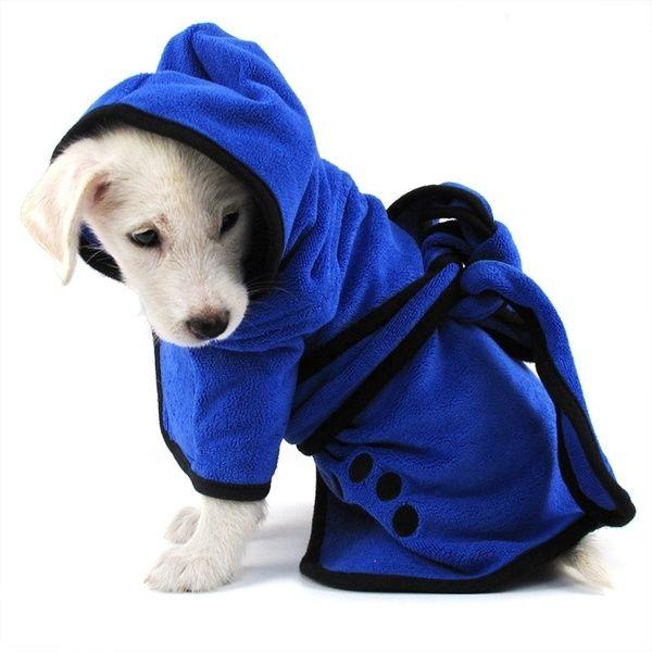 Autumn Winter Dog Pet Bathrobe Dog Coat Soft Microfibre Easy Wear