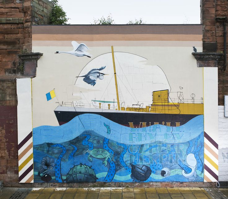 The Leith Aquatic - Mural Project - BLAMELESS collective - Photgraphy by Eoin Carey