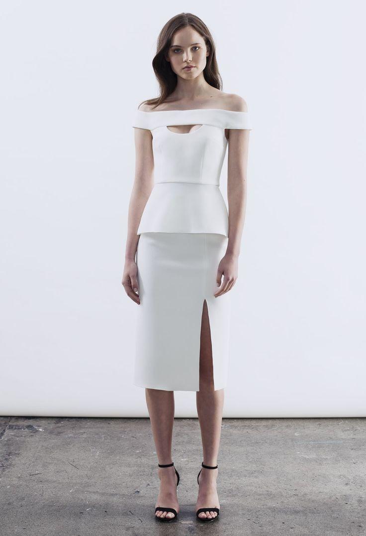 Yeojin Bae E-Shop :: Top & Double Crepe Split Pencil Skirt - Shop Yeojin Bae FOR WORK
