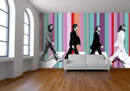 17 best ideas about yellow wall art on pinterest yellow for Abbey road wall mural