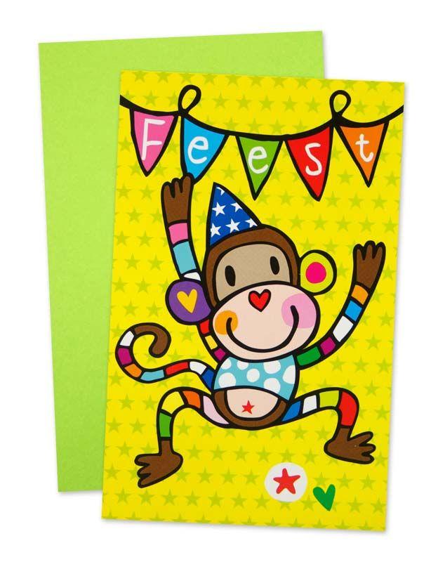 Uitnodiging Aap Feest #verjaardag