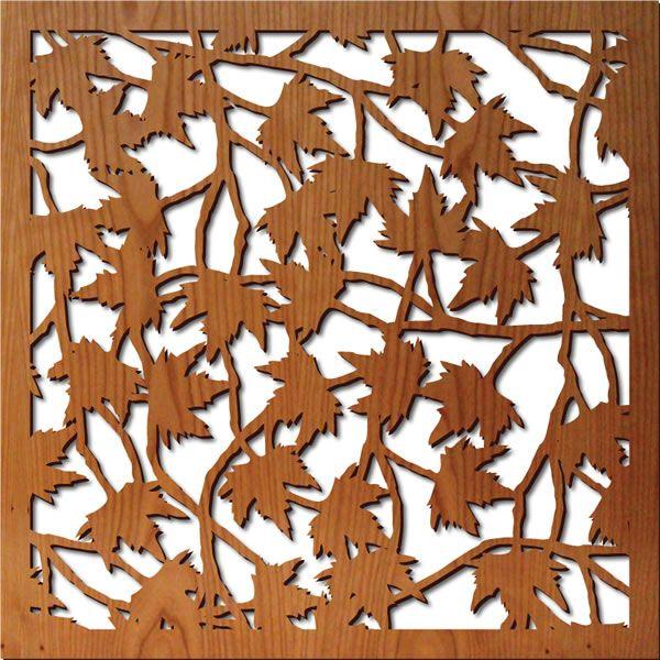 Maple Leaves Lightwave Laser Lasercut Wood Panels