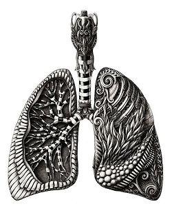 I kinda like the idea of having lungs tattooed because of my asthma