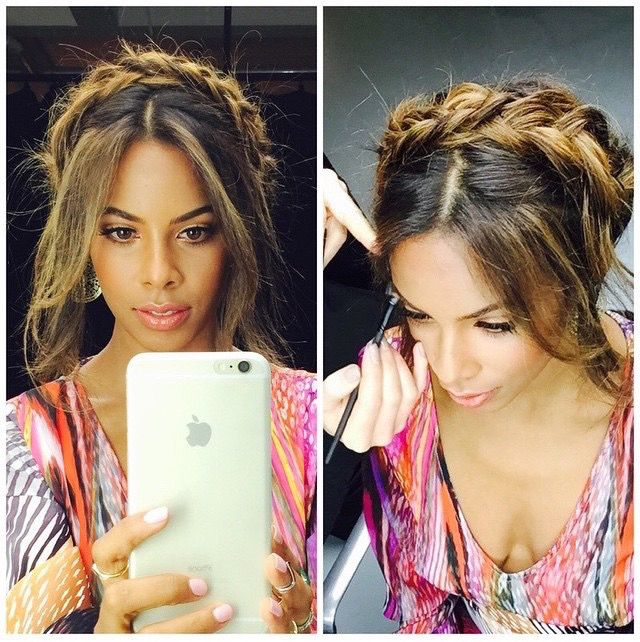 Hair Inspiration for Glastonbury by our gorgeous Gold Class lady Rochelle Humes   In Our Blog   Gold Class Hair
