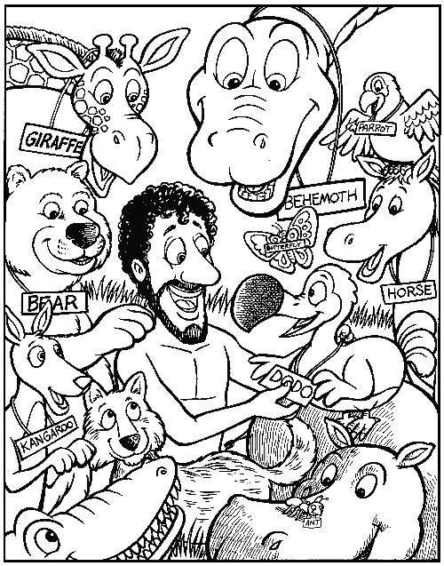 God Made Adam Coloring Page
