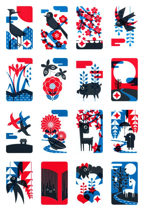 Hanafuda by Beomyoung Sohn, via Behance
