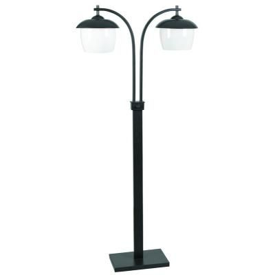 Kenroy Home 32141ORB Oil Rubbed Bronze Lika Transitional 2 Light Outdoor Floor Lamp with On / Off