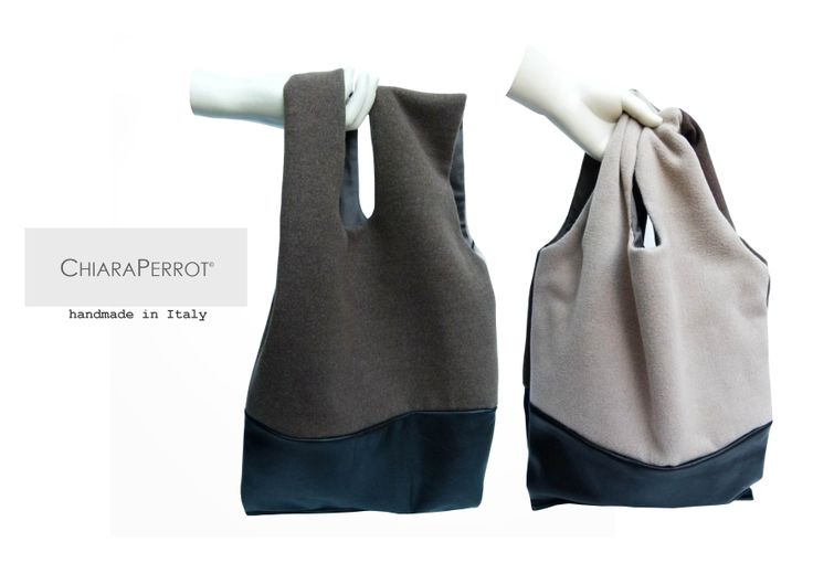 Shopper__Doublelea13 wool rag two colored and leather  Handmade in Italy  http://chiaraperrot.tictail.com/product/shopper-701049  https://www.facebook.com/ChiaraPerrot
