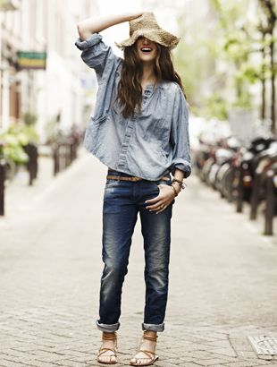 Scotch & Soda Maison Scotch Denim oversized shirt
