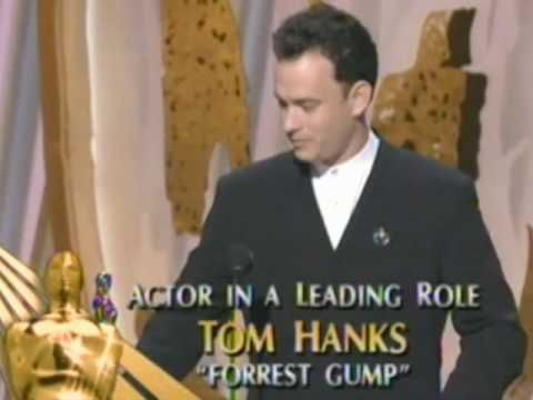 """Tom Hanks winning an Oscar® for """"Forrest Gump"""" - the woman I have chosen to spend my life with has taught me and reminds me every day what love is."""