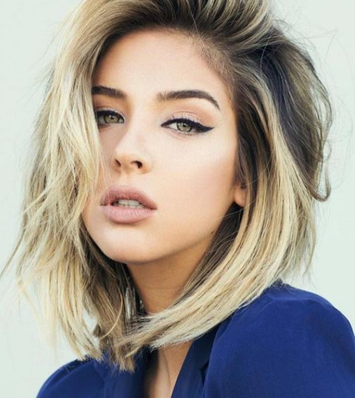 Miss California USA 2016, Nadia Mejia, is one of our top hair crushes these days. We're rounding up our favorite Nadia Mejia long bob hairstyles.