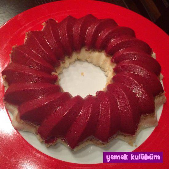 TARİF : Kek Kalıbında Böğürtlen Jöleli İrmikli Pasta   kolay pratik kek…