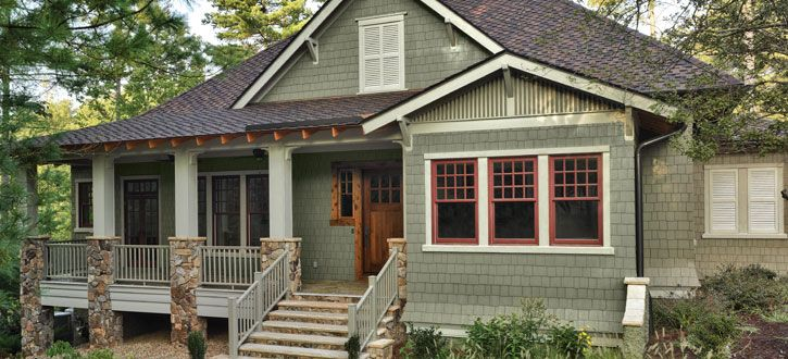 Green siding shake shingle and cedar shakes on pinterest for Sustainable siding