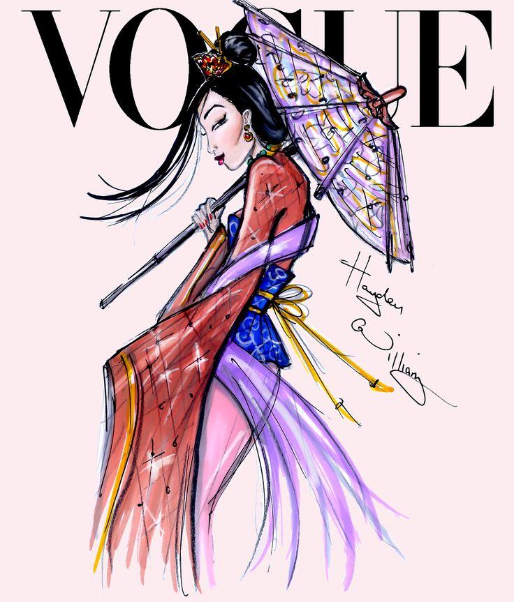 Disney Divas for Vogue by Hayden Williams: Mulan                                                                                                                                                      Mais