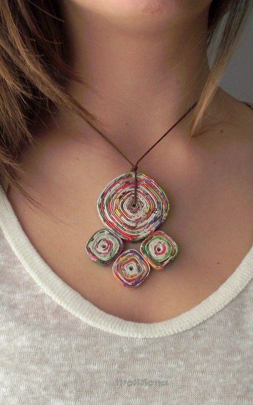 Paper & Cardboard Jewelry | Recyclart
