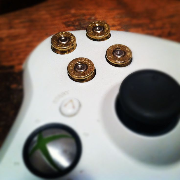 Xbox 9mm bullet button Controller Video Game by DieselLaceDesign, $55.89