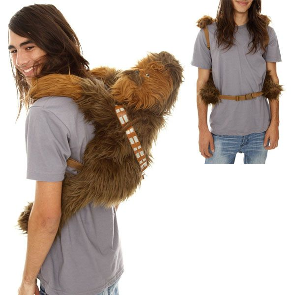 I know this has nothing to do with customer service but we have star wars stuff EVERYWHERE in our office... why not get a backpack? chewey back pack #starwars