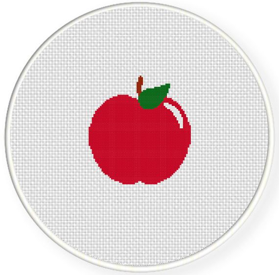 FREE Red Apple Cross Stitch Pattern