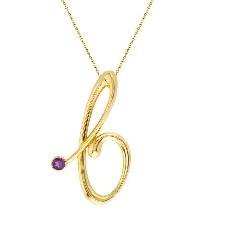 Your initial and your birthstone— this 14k gold pendant is made exclusively for you. Bring your variation to life with our handcrafted pendant that's personalized for the perfect fit.