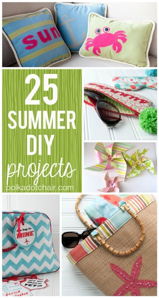 Need a few projects to keep you busy in the summer?  Check out these adorable DIY crafts from Polka Dot Chair.