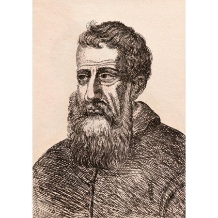 Tintoretto 1518 - 1594 Venetian Artist From 75 Portraits Of Celebrated Painters From Authentic Originals Etched By James Girtin Published London 1817 Canvas Art - Ken Welsh Design Pics (12 x 17)