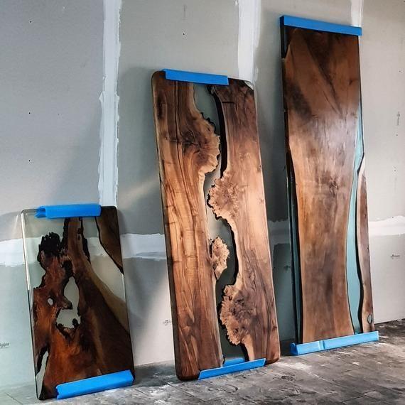 Epoxy Tisch aus Walnussholz Epoxy Tisch aus Holz