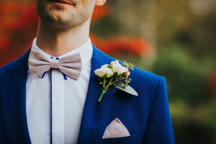 How good does this white shirt look with it's navy blue outline paired with bow-tie, pocket square and @tedbaker navy suit jacket? Photo by Benjamin Stuart Photography #weddingphotography #tedbaker #groom #navysuit #weddingsuit #weddingday
