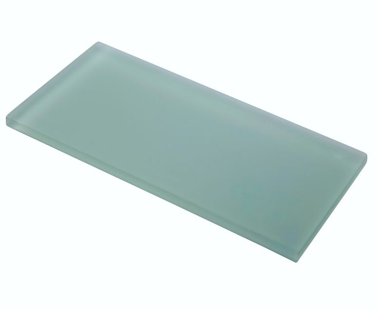Ocean Glass Subway Tile Aqua Blue Frosted 4x8 | Subway