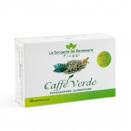 Integratore a base di caffè verde, ricco di acido clorogenico.