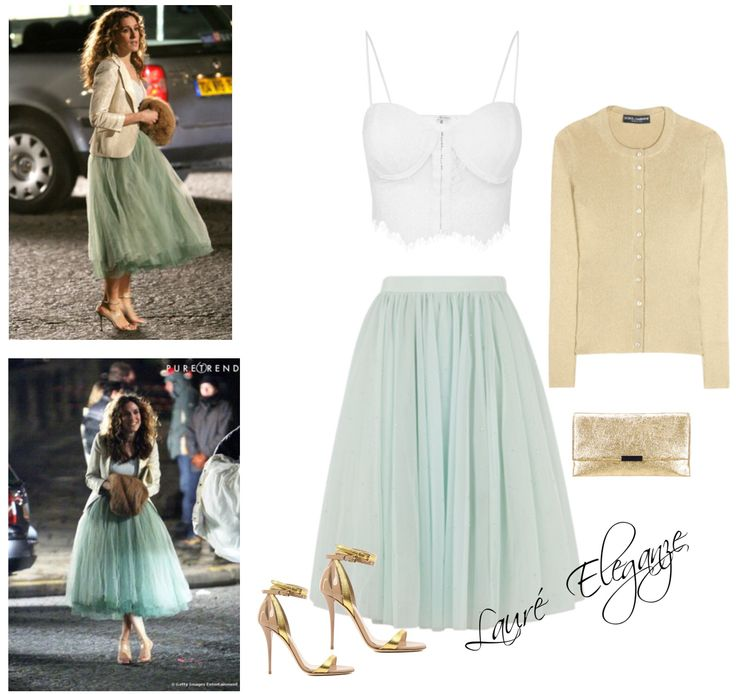 Mint Tulle Skirt & Crop Top - Available from Lauré Eleganze