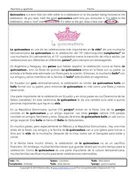 quinceaera traditions essay Find info on the history of a quinceanera including history, traditions, and meanings.