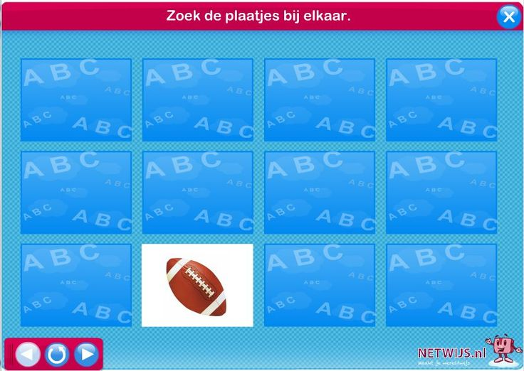 Sport - memory / Netwijs.nl - Maakt je wereldwijs #kinderboekenweek