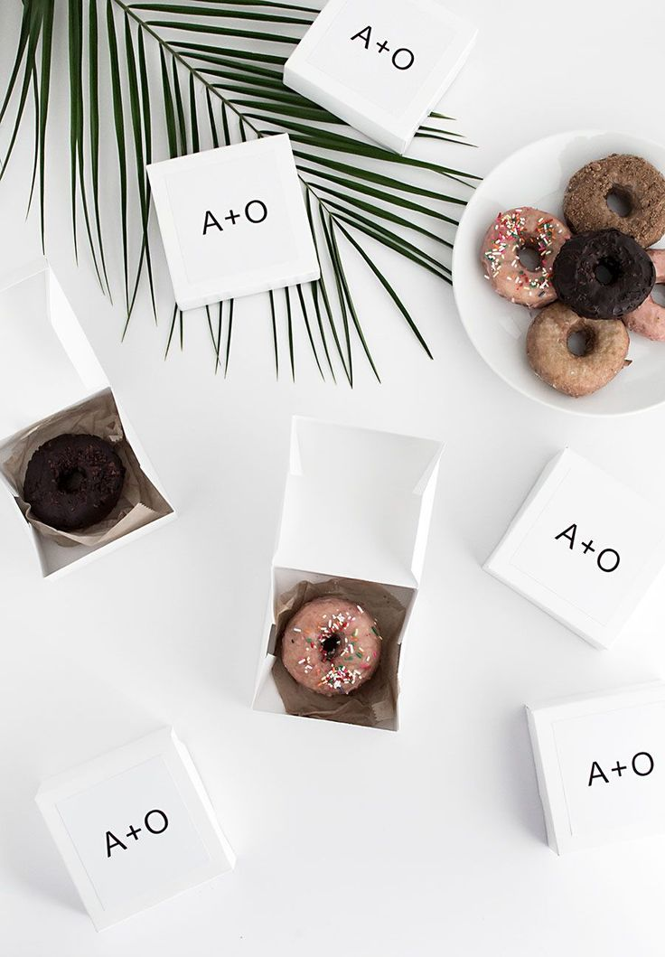 DIY take home donut box favors