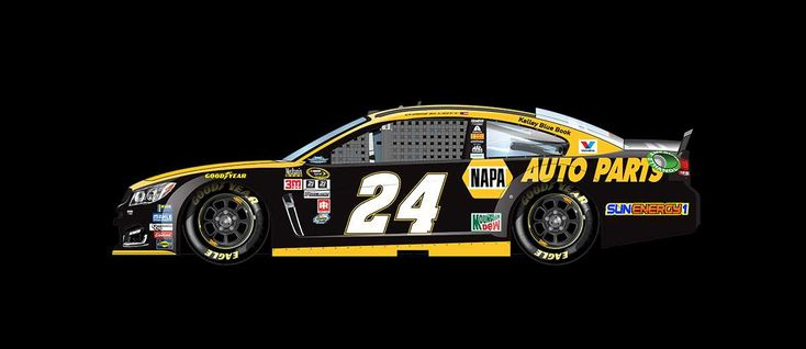 2016 Darlington throwback paint schemes | Chase Elliott No. 24 Hendrick Motorsports Chevrolet