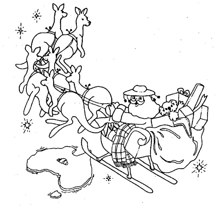 Australia XMAS COLORING PAGES