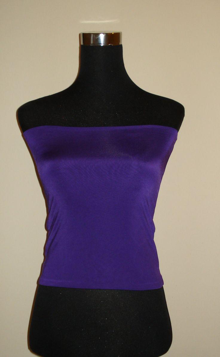 Purple bandeau top boob crop tube top s/m/l/xl//xxl by stitchawayrose on Etsy