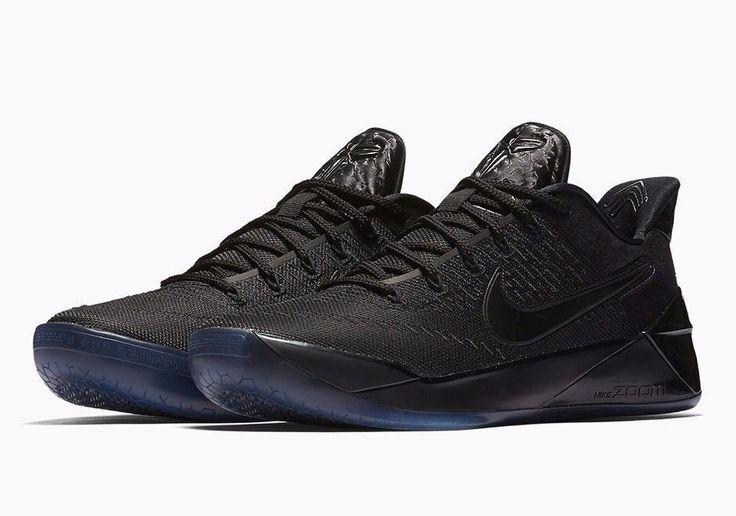Nike KOBE AD Mens Basketball Shoes 9 Triple Black 852425 064 #Nike # BasketballShoes