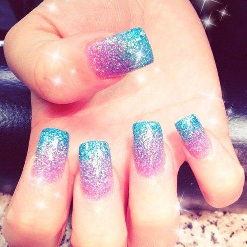 Pink And Blue Glitter Nail Polish: Best 20+ Glitter Gradient Nails Ideas On Pinterest