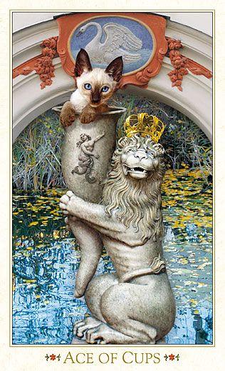 Ace of Cups - Bohemian Cats Tarot