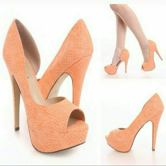 🆕Brand New Peach heels🆕 👡👡👡👡 Peach heels Brand new never worn 💯 Size 9 Shoes Heels