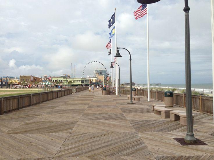 Myrtle Beach Boardwalk In SC