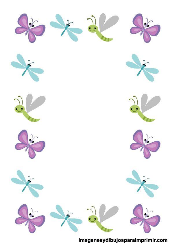 Imagenes de bordes de hojas-Imagenes y dibujos para imprimir