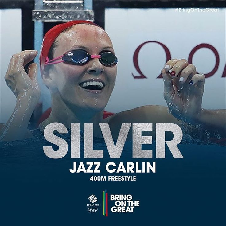 WHAT A SWIM! Well done @jazzcarlin! #Silver in the pool! #Swimming #Rio2016…