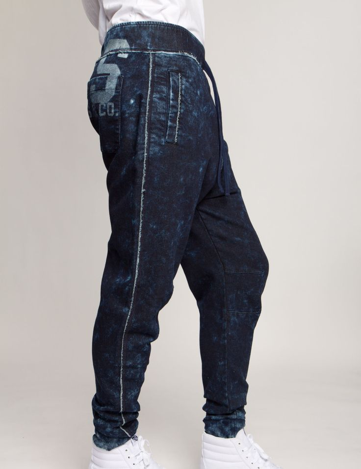 http://www.prpsjeans.com/shop/PRPS-Goods-Co/Indigo-Dyed-Sweatpants/P1699