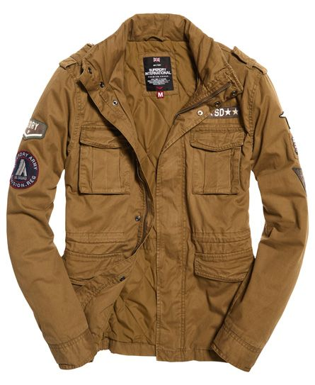 Details about New Mens Superdry Rookie Military Jacket Burnished Olive