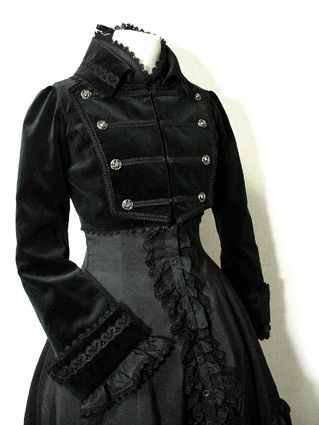 Military-styled vintage dress.