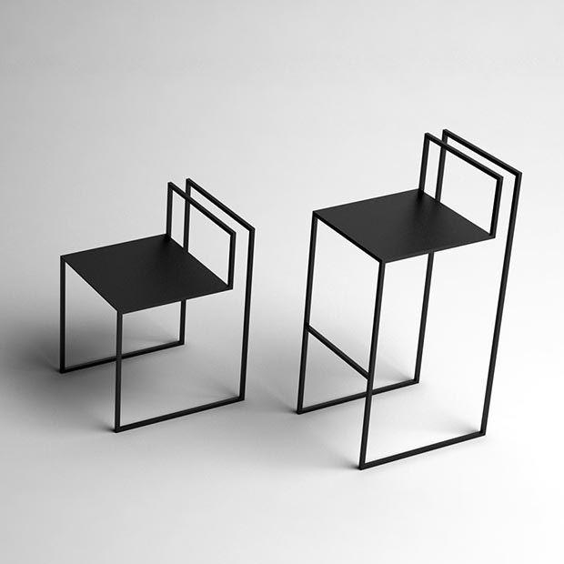 Gentle Hint Chairs de Nissa Kinzhalina. Trazos que son sillas