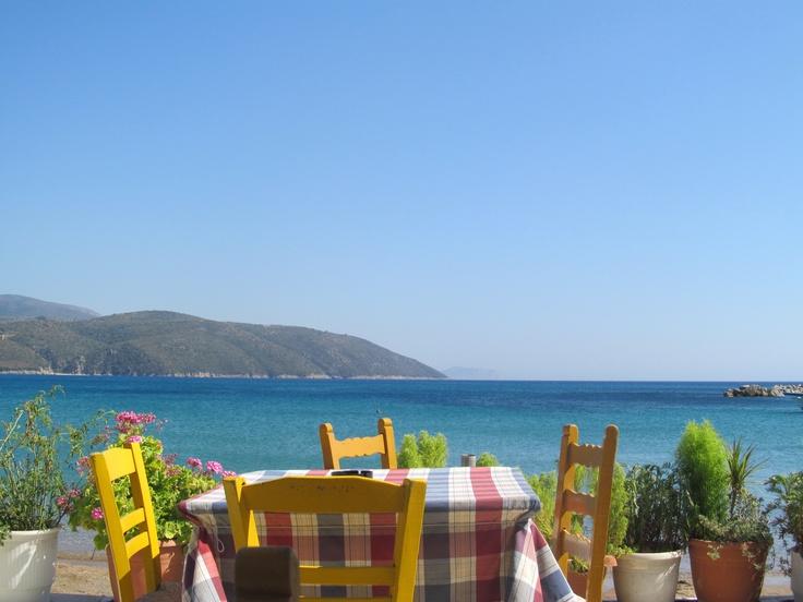 Beach restaurant in Greece.