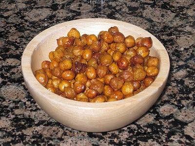 One of my favorite homemade snacks is roasted chickpeas. The best thing about them is that you can flavor them in lots of different ways. And they are so easy to make!