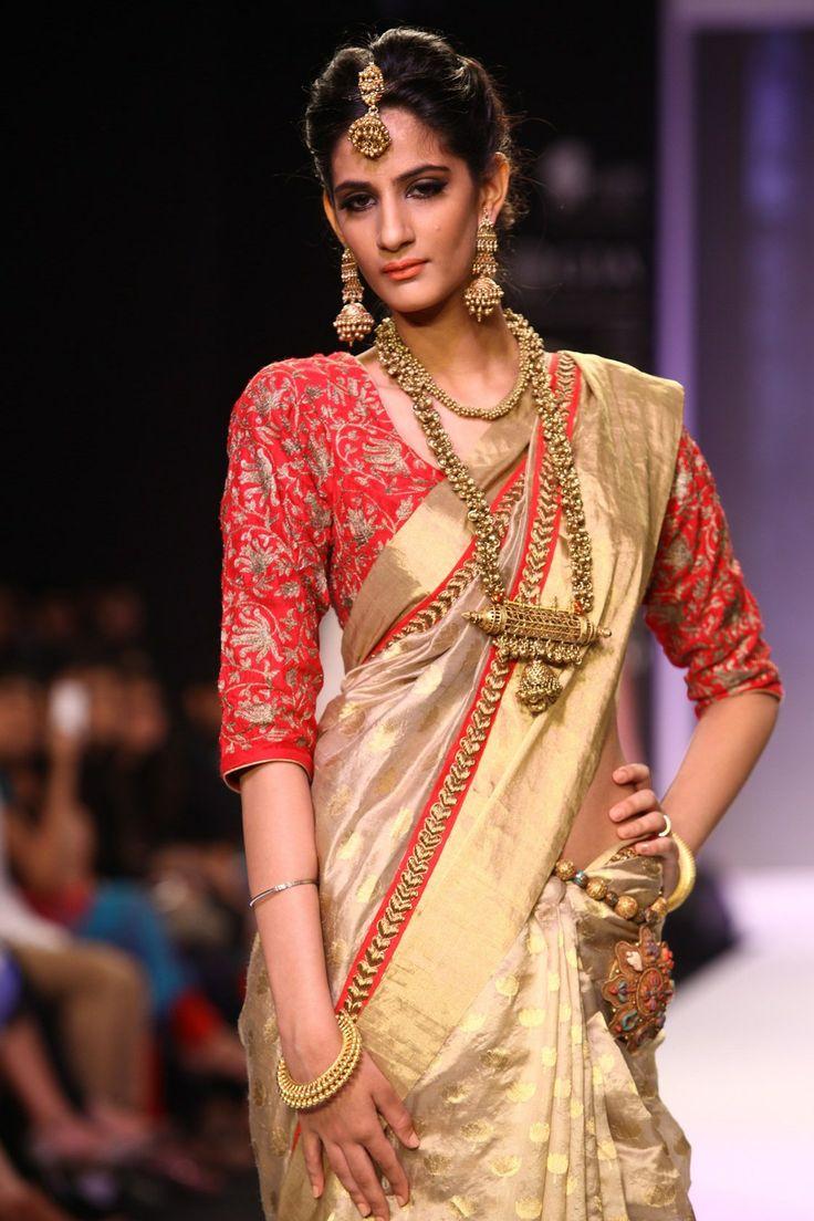 new designe golden #saree